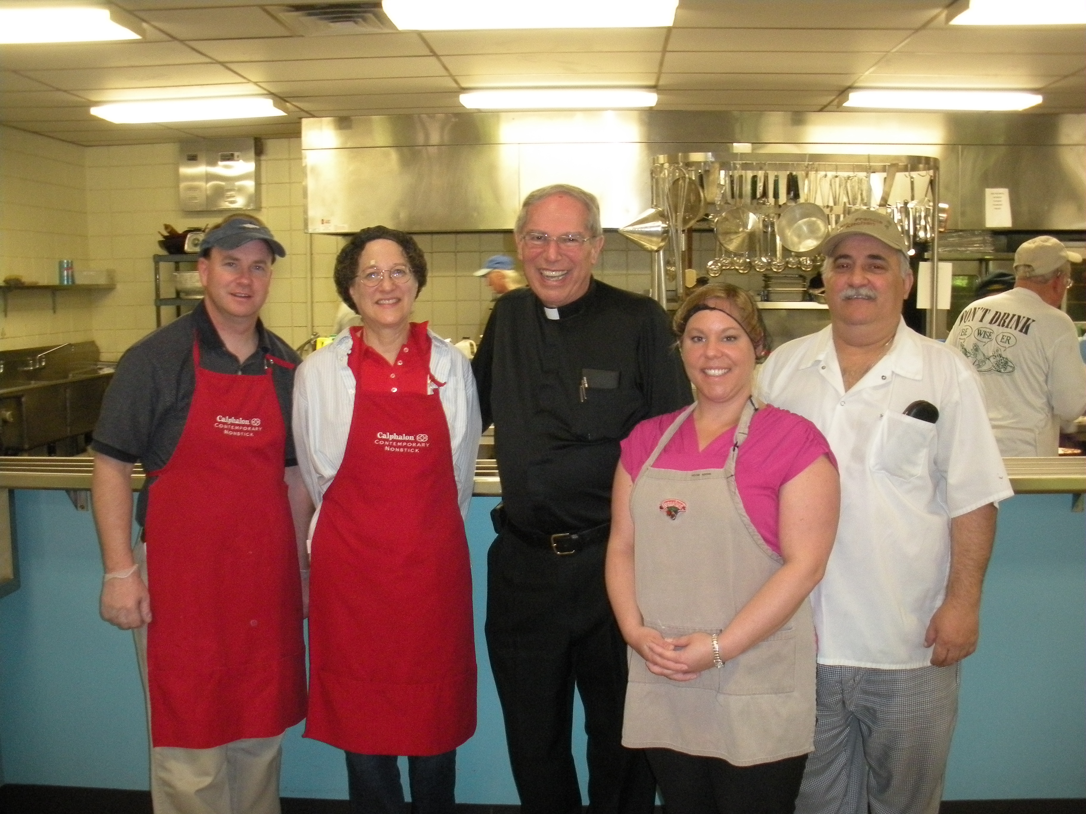 LPB board members and staff volunteer at St. Francis Kitchen