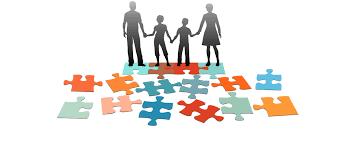 Puzzle Family Clip Art