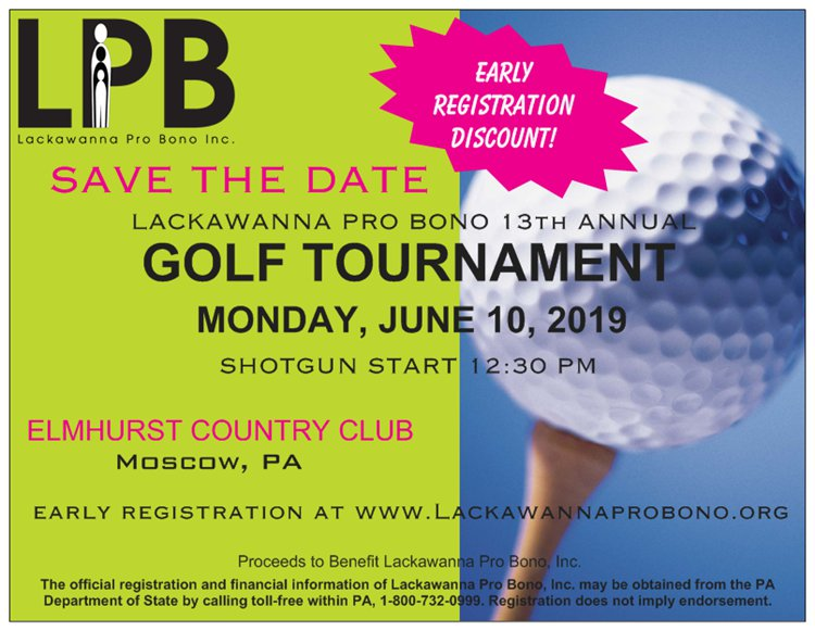 2019 Golf Tournament Save-the-Date